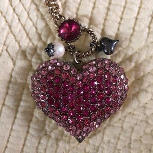 Betsy Johnson heart necklace